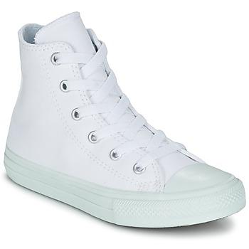 Scarpe Bambina Sneakers alte Converse CHUCK TAYLOR ALL STAR II PASTEL SEASONAL TD HI Bianco / Blu / Cielo