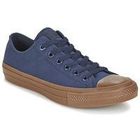Scarpe Uomo Sneakers basse Converse CHUCK TAYLOR ALL STAR II TENCEL CANVAS OX MARINE / Marrone