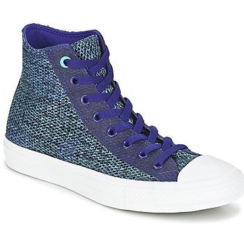 Scarpe Uomo Sneakers alte Converse CHUCK TAYLOR ALL STAR II OPEN KNIT HI Blu