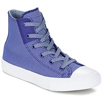 Scarpe Bambino Sneakers alte Converse CHUCK TAYLOR ALL STAR II BASKETWEAVE FUSE TD HI INDIGO / Blu / Bianco