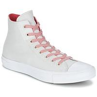 Scarpe Sneakers alte Converse CHUCK TAYLOR ALL STAR II BASKETWEAVE FUSE HI ECRU / Bianco / Rosso