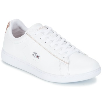 Scarpe Donna Sneakers basse Lacoste CARNABY EVO 217 2 Bianco / Rosa