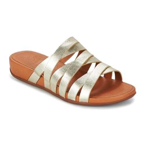 FitFlop LUMY LEATHER SLIDE Oro  Scarpe Ciabatte Donna 116