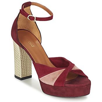 Scarpe Donna Sandali Heyraud EVELINE Rosso / Rosa / Oro