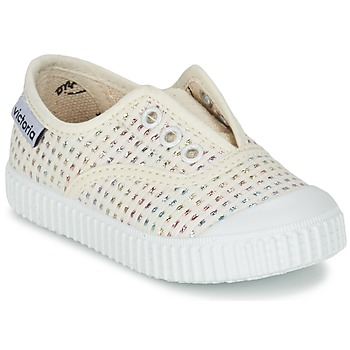 Scarpe Bambina Sneakers basse Victoria INGLESA LUREX ELASTICO Beige