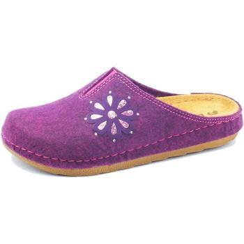 Scarpe Donna Pantofole Inblu Pantofole  per donna in tessuto prugna sottopiede in pelle Prugna