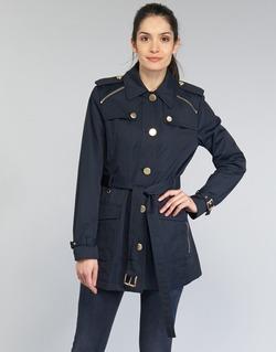 Abbigliamento Donna Trench MICHAEL Michael Kors ZIPPER YOKE TRENCH MARINE