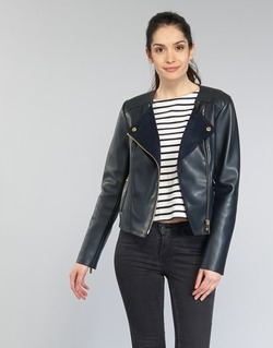 Abbigliamento Donna Giacca in cuoio / simil cuoio MICHAEL Michael Kors BONDED LTHER JKT MARINE