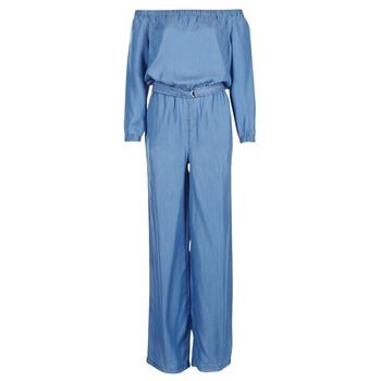 Abbigliamento Donna Tuta jumpsuit / Salopette MICHAEL Michael Kors TENCEL OFF SHDR JUMPSUIT Blu