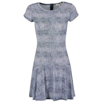 Abbigliamento Donna Abiti corti MICHAEL Michael Kors ZEPHYR SS FLARE DRS Blu / Bianco