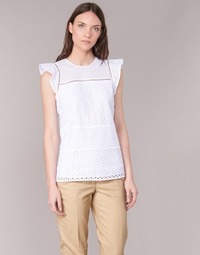 Abbigliamento Donna Top / Blusa MICHAEL Michael Kors COMBO EYELET S/S Bianco