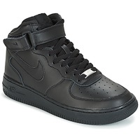 Scarpe Bambino Sneakers basse Nike AIR FORCE 1 MID 06 JUNIOR Nero