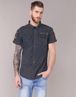 Abbigliamento Uomo Camicie maniche corte Deeluxe BURTY Grigio