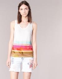 Abbigliamento Donna Top / T-shirt senza maniche Desigual TEDERI Bianco / Multicolore