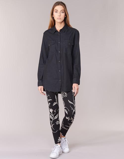 Abbigliamento Donna Leggings Desigual CAMIOLES Nero / Grigio