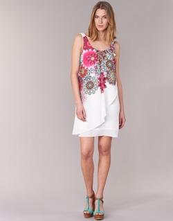 Abbigliamento Donna Abiti corti Desigual LIORASE Bianco / Rosso / Rosa