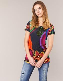 Abbigliamento Donna T-shirt maniche corte Desigual GRIZILLO Multicolore