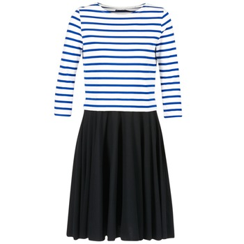 Abbigliamento Donna Abiti corti Petit Bateau FINALLY Bianco / Blu