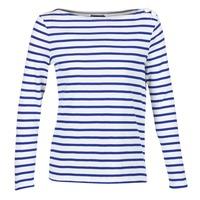 Abbigliamento Donna T-shirts a maniche lunghe Petit Bateau FIX Bianco / Blu