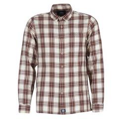 Abbigliamento Uomo Camicie maniche lunghe Dickies HARRELL Bianco / Marrone