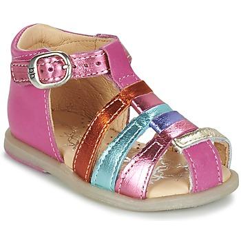 Scarpe Bambina Ballerine Babybotte TIKALOU Rosa / Multicolore