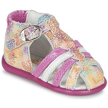Scarpe Bambina Sandali Babybotte GUPPY Rosa / Multicolore