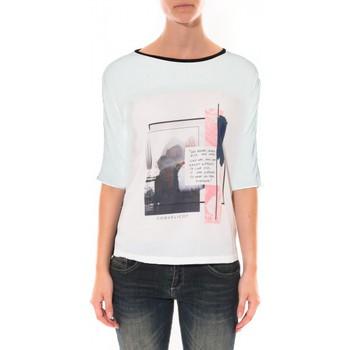Abbigliamento Donna T-shirt & Polo Coquelicot Tee shirt   Blanc 16409 Bianco