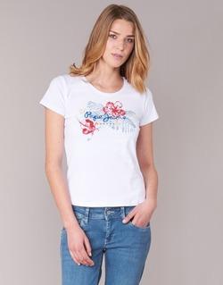 Abbigliamento Donna T-shirt maniche corte Pepe jeans AMBER Bianco