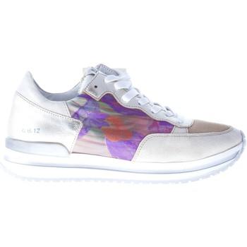 Scarpe Donna Sneakers basse Quattrobarradodici Sneaker in camoscio BEIGE con tessuto e stampa floreale beige