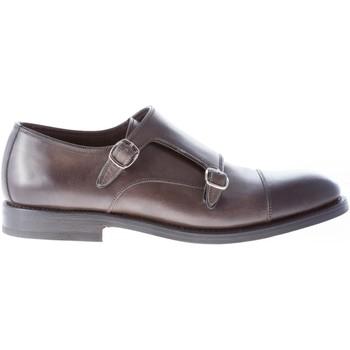 Scarpe Uomo Richelieu Migliore Uomo scarpa con doppia fibbia in pelle  lavata GRIGIO fumo grigio db79170c781