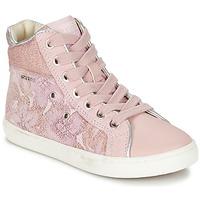 Scarpe Bambina Sneakers alte Geox J KIWI G. H Rosa