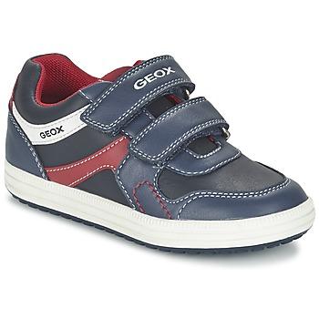 Scarpe Bambino Sneakers basse Geox J VITA A Marine / Rosso