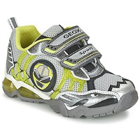 Scarpe Bambino Sneakers basse Geox J SHUTTLE B. B Grigio / Limone