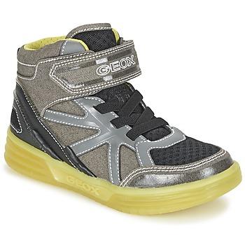 Scarpe Bambino Sneakers alte Geox J ARGONAT B. B Grigio / Limone