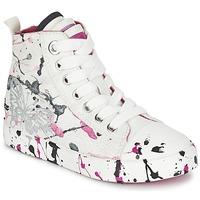 Scarpe Bambina Sneakers alte Geox J CIAK G. C Bianco / Rosa