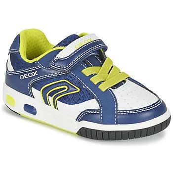 Scarpe Bambino Sneakers basse Geox J GREGG A Blu / Limone