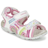 Scarpe Bambina Sandali sport Geox J S.ROXANNE A Bianco / Rosa
