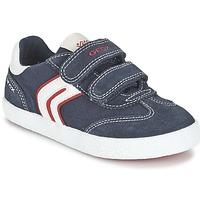 Scarpe Bambino Sneakers basse Geox J KIWI B. M MARINE / Rosso