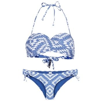Abbigliamento Donna Costume a due pezzi Rip Curl DEL SOL BANDEAU SET Blu / Bianco