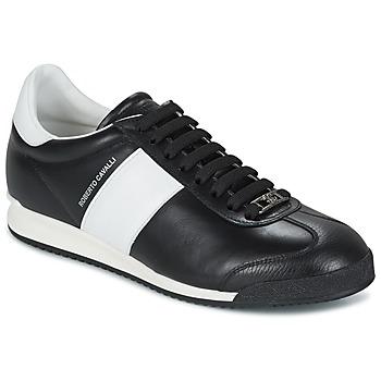 Scarpe Uomo Sneakers basse Roberto Cavalli 2042A Nero / Bianco