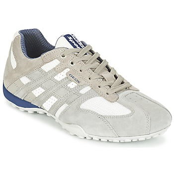 Scarpe Uomo Sneakers basse Geox SNAKE Grigio / Bianco