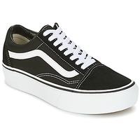 Scarpe Donna Sneakers basse Vans UA OLD SKOOL PLATFOR Nero / Bianco