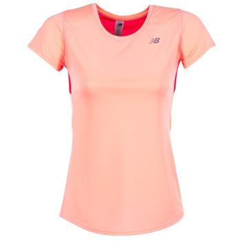 Abbigliamento Donna T-shirt maniche corte New Balance ACCELERATE T Corail