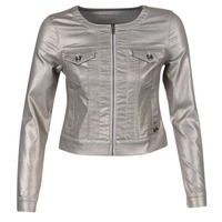 Abbigliamento Donna Giacche in jeans Les P'tites Bombes OMILATE Argento