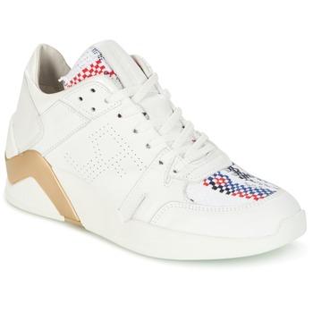 Scarpe Donna Sneakers alte Serafini CHICAGO Bianco / Oro