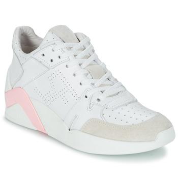 Scarpe Donna Sneakers alte Serafini CHICAGO Bianco / Rosa