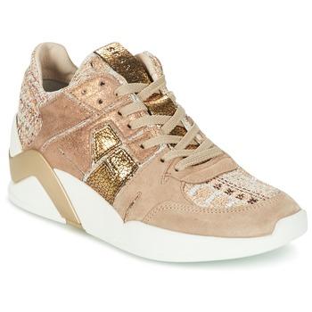 Scarpe Donna Sneakers alte Serafini CHICAGO Beige / Oro