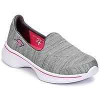 Scarpe Bambina Slip on Skechers GO WALK 4 Grigio