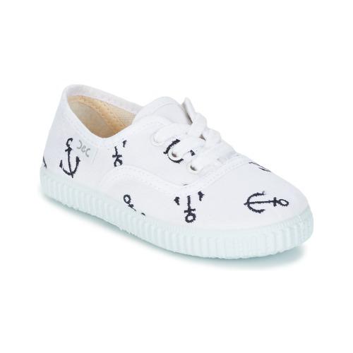 Scarpe Bambino Sneakers basse Citrouille et Compagnie KIPPI BOU Bianco / Blu