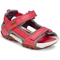 Scarpe Bambina Sandali Camper OUS Rosso